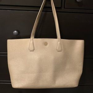 Tory Burch used metallic tote
